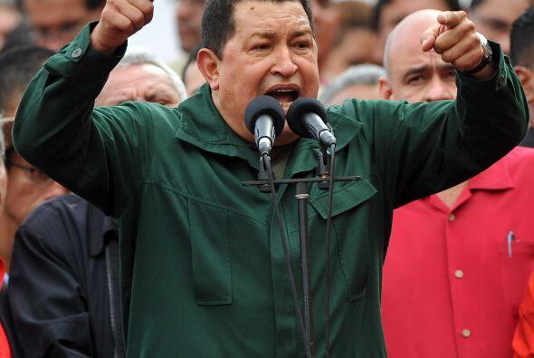 Hugo Chávez expresó en el centro de la capital donde se celebró la insta...
