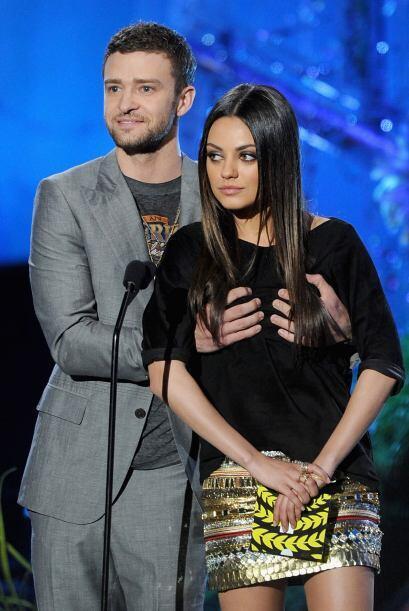 Sí que se agarraron confianza Justin Timberlake y Mila Kunis desp...
