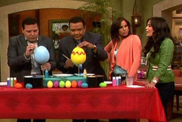 Para celebrar la Pascua, los presentadores de Despierta América pintaron...