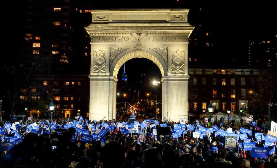 Bernie Sanders en Nueva York