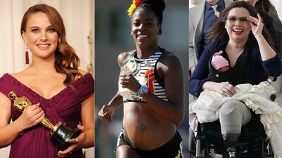 Las figuras del cine, los deportes y la política que consiguieron importantes triunfos mientras estaban embarazadas