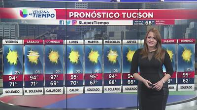 Condiciones calurosas para este viernes en Arizona