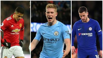 Manchester City amplía su ventaja tras derrotas del United y Chelsea
