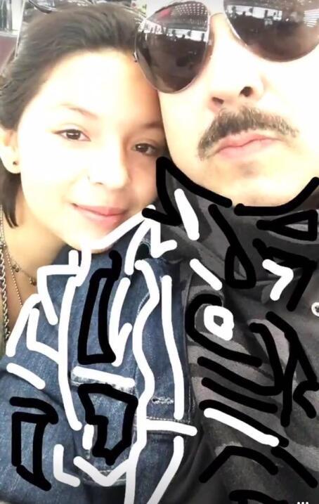 Pepe Aguilar y su hija Ángela