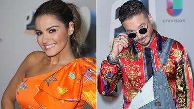 Maite Perroni y J Balvin exageraron con su look retro para Premios Juventud
