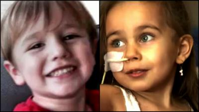 El niño Braq Marshall donó su corazón a la niña Daniela de Ávila.