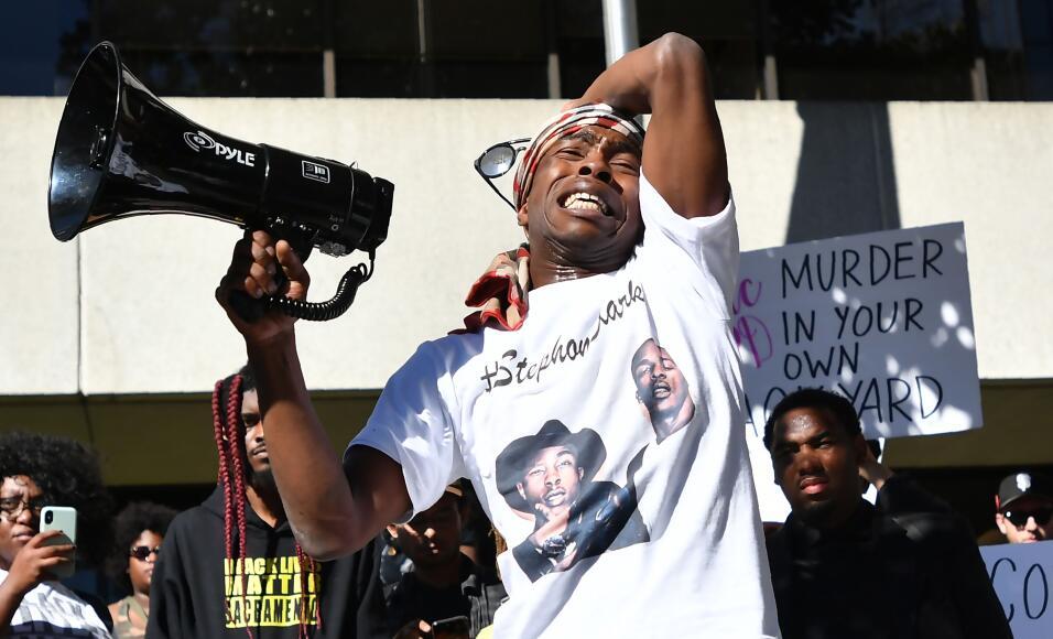 Stevante Clark ha protagonizado las marchas pidiendo justicia por la mue...