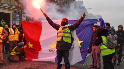 En fotos: Las protestas que han convertido París en un campo de batalla
