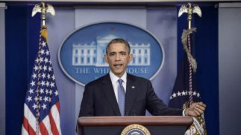 Presidente Obama en conferencia de prensa.