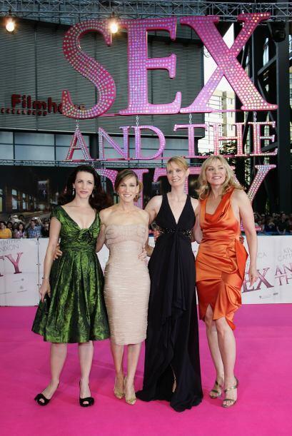 El 'glamour' no sólo era en las pantallas, ya que Sarah Jessica Parker y...