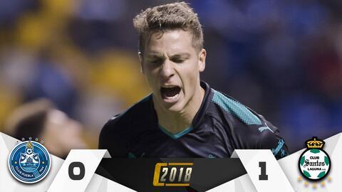 El gol de Furch mantiene líder a Santos.