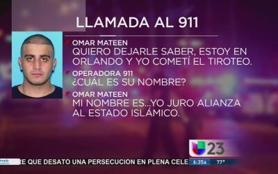 Revelan llamadas que hizo Omar Mateen al 911 antes de la masacre en Orlando