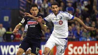 Nacho Piatti y Pablo Aguilar durante la última final de CCL.