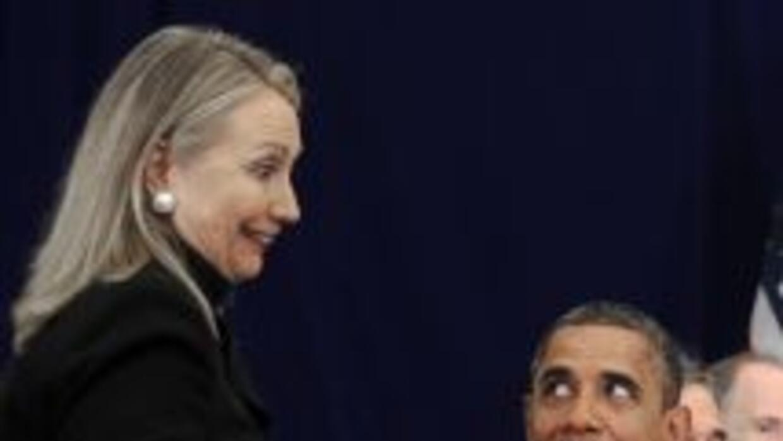 Hillary Clinton y Barack Obama.