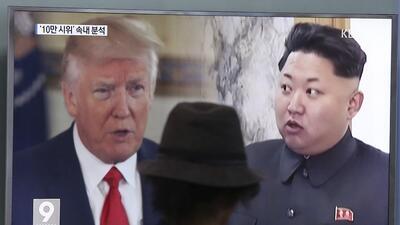 El presidente Trump volvió a advertir al líder comunista Kim Jong Un sob...