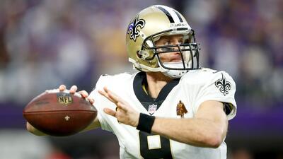 Brees sigue siendo uno de los QB's más temidos en la NFL.