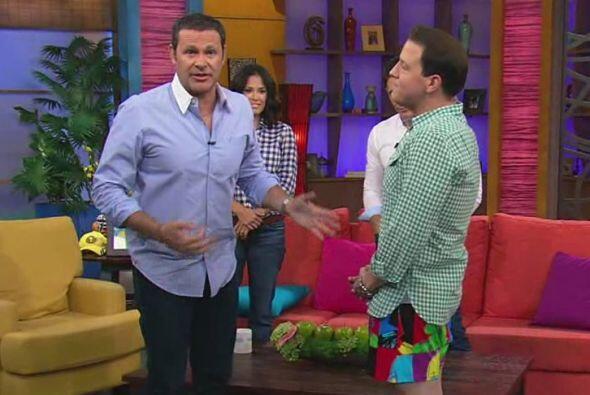 Raúl resultó muy valiente y, tal como lo prometió, se quitó los pantalones.