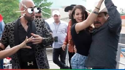 El Pelón se puso celoso de las parejas de baile de Carla Medrano