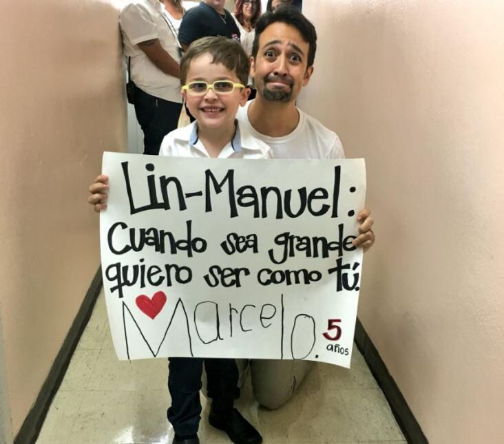 Lin-Manuel Miranda de visita en Puerto Rico