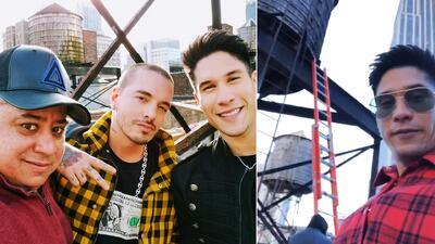 Nivel acróbata: mira cómo Chyno grabó un nuevo video musical con J Balvin en una azotea de NY
