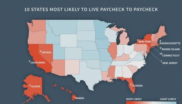 En Florida se vive cheque a cheque, según estudio