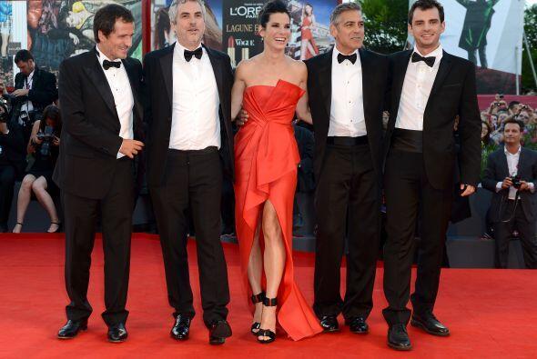 """Éste fue el evento de la película """"Gravity"""", con el director y el repart..."""