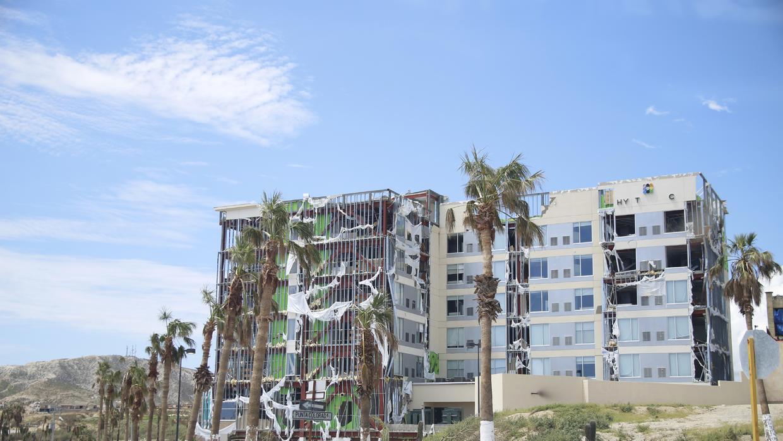 A hotel destroyed after Hurricane Odile struck Baja California Sur on Se...