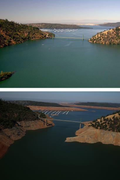 El Lago Oroville se encuentra actualmente en el 32 por ciento del total...