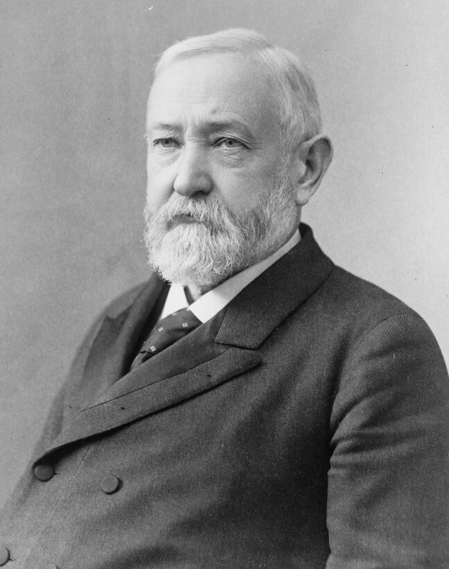 Benjamin Harrison (1833–1901) fue el primer presidente en tener electric...