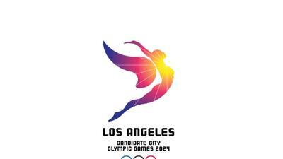 El logo fue revelado por el Comité Olímpico de Los Ángeles.