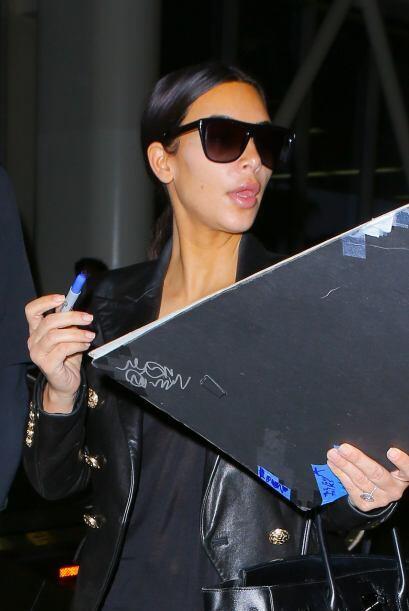 Tal vez por eso Kim lucía tan seria.Mira aquí los videos más chismosos.
