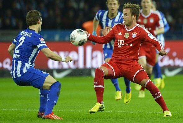 Mario Goetze puso el 2-0 para un Bayern que ya navegaba tranquilo en la...