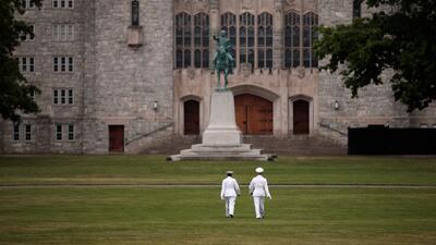 Cadetes en la Academia Militar de Estados Unidos en West Point, Nueva York.