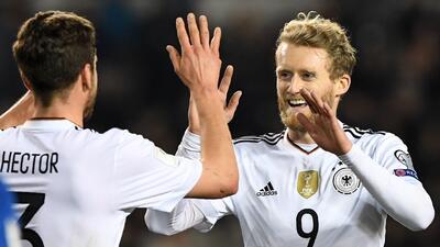 Alemania goleó y se mantiene con puntaje perfecto en el grupo C de la eliminatoria europea