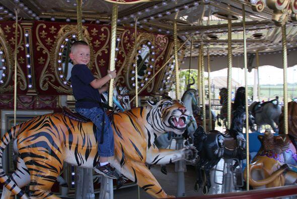 En el carrusel los animales están adaptados con asientos especiales para...