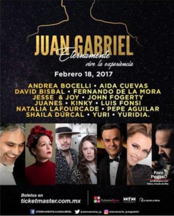 Este es el cartel para Eternamente Juan Gabriel.