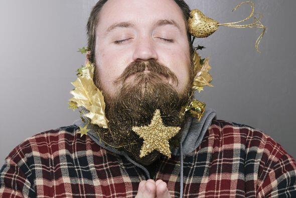 Una barba con estrella que nos recuerda que estas épocas son tiempos de...