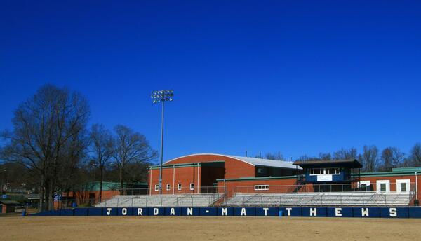 El instituto Jordan Matthews en Siler City, Carolina del Norte, sede del...
