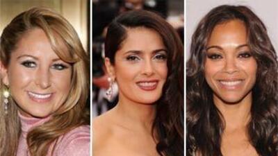 Zoe Saldana Salma Hayek y Geraldine Bazán hablaron con Univision sobre l...