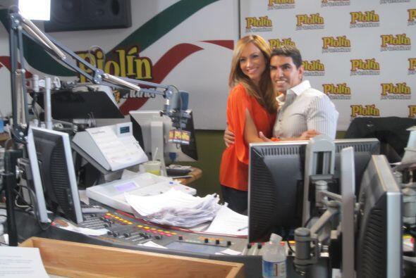 El segundo día de la transmisión Satcha fue invitada al show del Piolín...