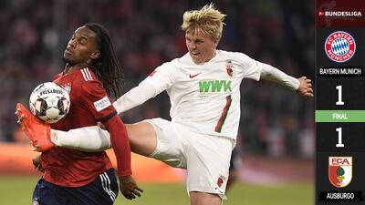 Con fallo de Neuer, el Bayern Múnich no pudo en casa ante el Augsburgo