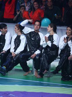 Mientras que la dupla mexicana (centro) se sabía ganadora de la prueba.