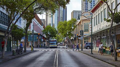 Las calles del centro de Honolulu registran altos índices de acci...
