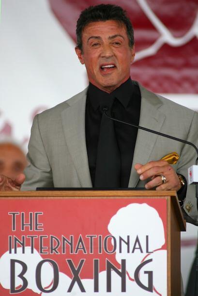 Muy emocionado y muy sincero, el creador e intérprete de 'Rocky Balboa'...