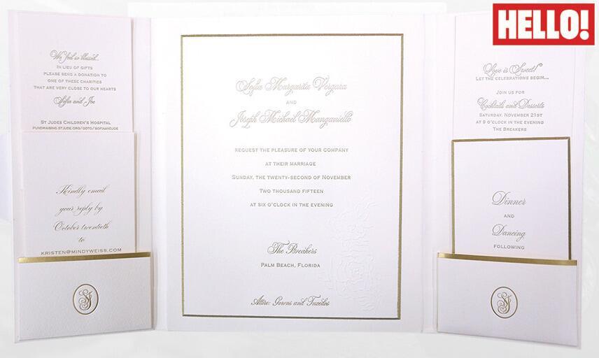 Esta es la invitación entera a la boda de Sofía y Joe.