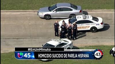 En Un Minuto Houston: Encuentran los cadáveres de una pareja hispana tras un aparente caso de homicidio y suicidio