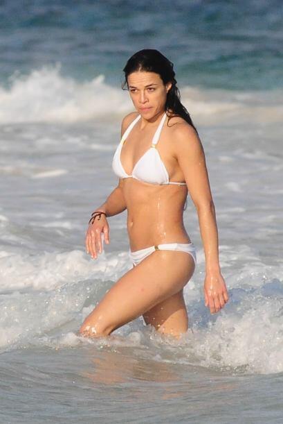 Michelle Rodriguez se fue de vacaciones a México.