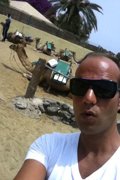 Raúl se bronceó durante su estancia en Gran Canaria.