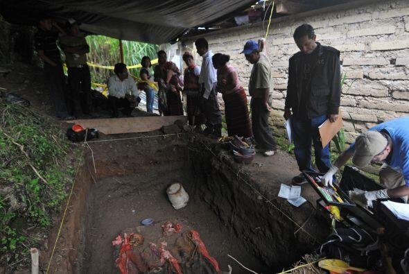 La recuperación de los cadáveres habían sido promovidas con anterioridad...