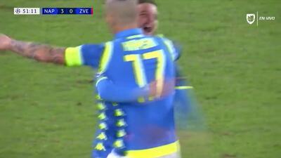 ¡GOOOL! Dries Mertens anota para Napoli